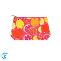 کیف آرایشی کلینیک مدل Orange and pink
